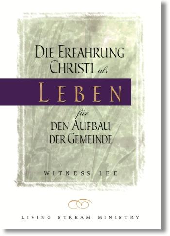 Die Erfahrung Christi als Leben für den Aufbau der Gemeinde