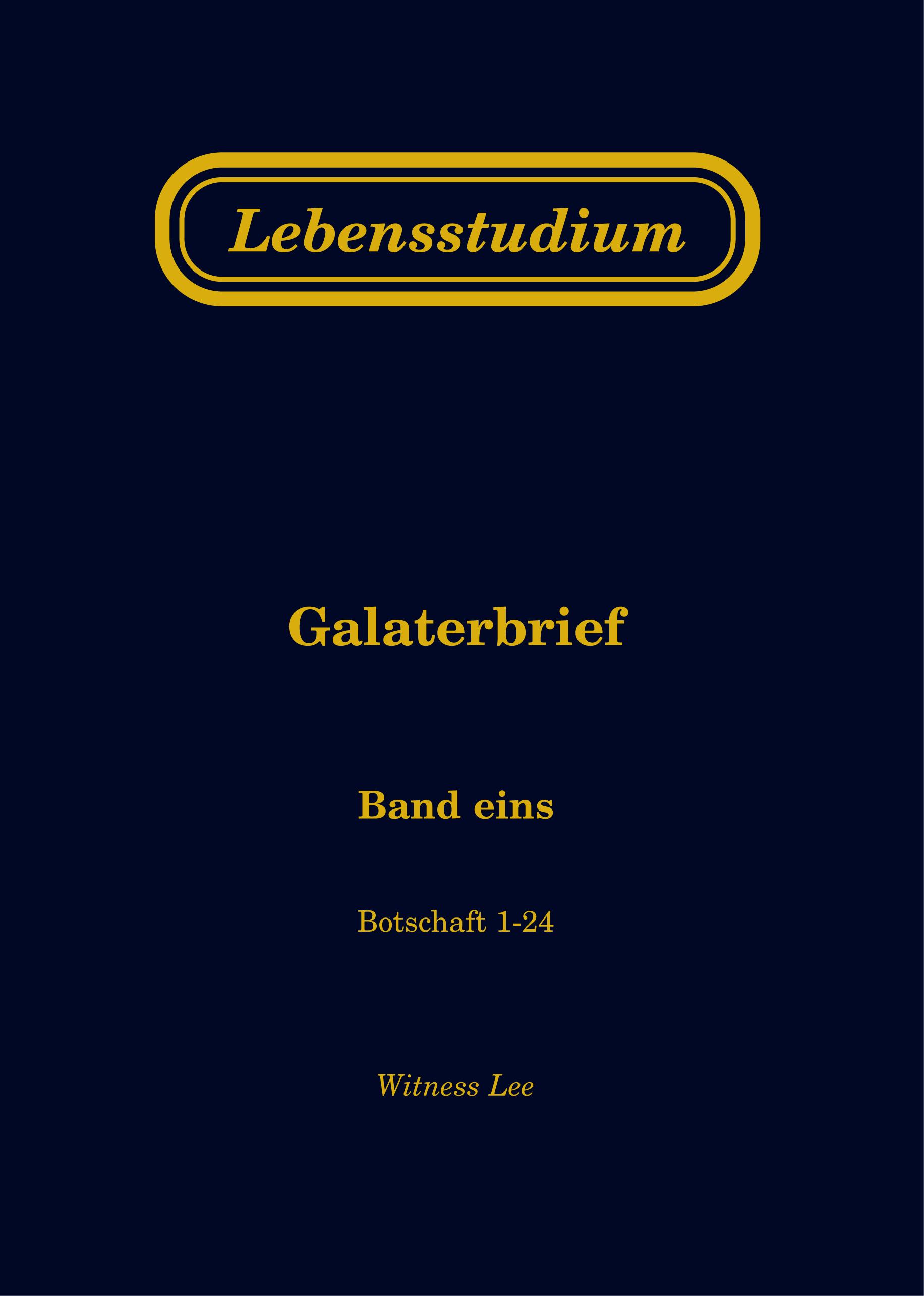 Lebensstudium Galaterbrief