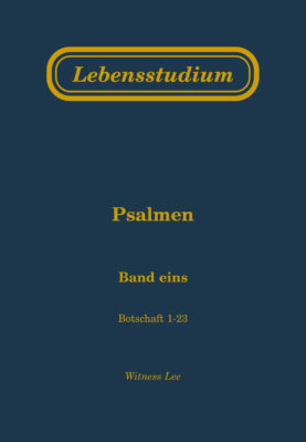Lebensstudium Psalmen (Band 1)